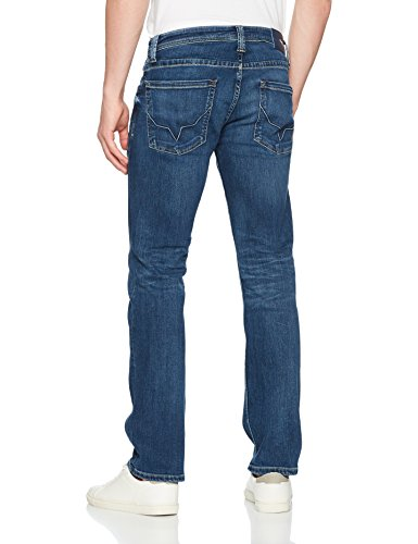 Pepe Jeans London Herren Straight Jeans Kingston Zip Blau (Denim GB0)