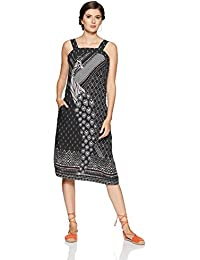 global desi Women's A-Line Midi Dress