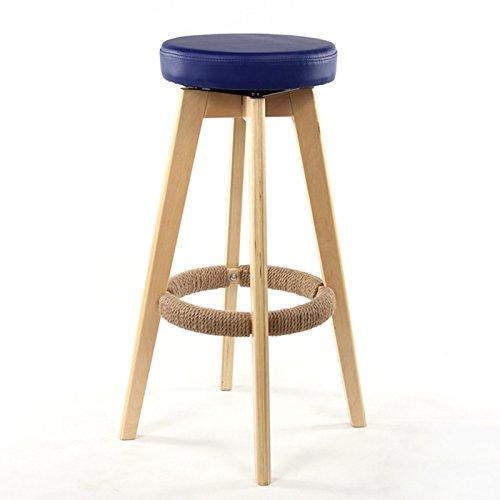 CGN Retro Tabouret de bar en bois massif Chaise de bar, tabouret de restaurant circulaire Chaise à tabouret à caisse Chaise à manger Chaise à café Tabouret à hauteur élevée Chaise haute Tabouret à manger 65-74 cm la satisfaction ( Couleur : #5 , taille : 65cm )