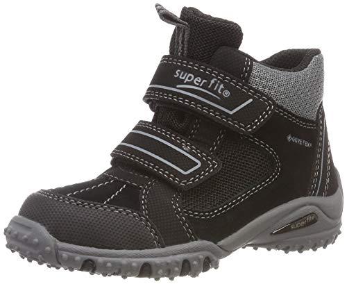 Superfit Jungen SPORT4 Hohe Sneaker, Schwarz/Grau 00, 34 EU -