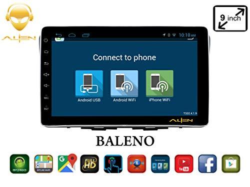 ALIEN 9.0 Inches Maruti Suzuki Baleno Black Android Infotainment System Advance Series