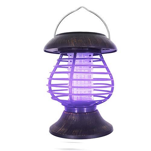 LINGGE Mückenschutz Elektrische Fliegenklatsche Fliegenfalle Insektenvernichter Mückenfalle Moskito-Mörder-Moskito-Licht Hanging Portable Solar Exterminator im Freien Wasserdichten Rasen-Garten-Licht -