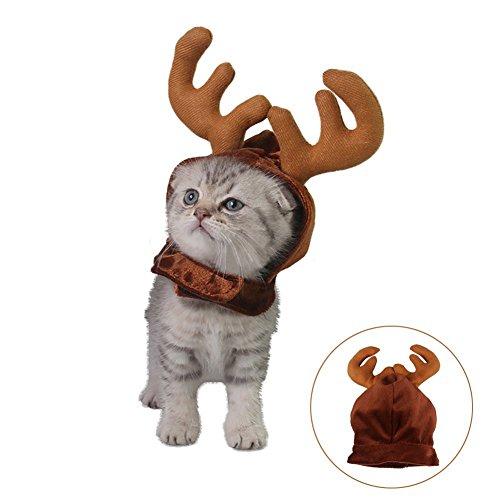 Bello Luna Elch Geweih Hut Cap für Katze und kleine Hund Pet Headwear Weihnachten Sammlung Haustier Kostüm Zubehör