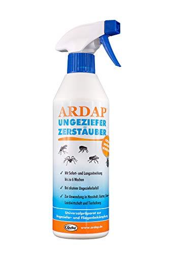 ARDAP Zerstäuber - Wirkungsvolles Insektizid gegen Fliegen, Schädlinge oder Lästlinge - Pumpspray für Zuhause oder in unmittelbarer Nähe von Tieren - 1 x 500 ml