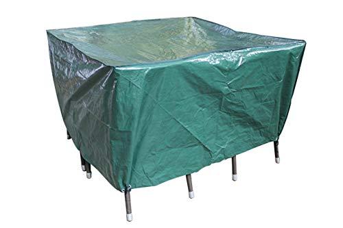 Laxllent Schutzhülle für Tisch,Wasserdicht Gartenmöbel Abdeckung,Atmungsaktiv Abdeckhaube für Stühle,Sofa,135x135x70cm,PE,Grün