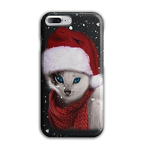 Chat Mignonne Drôle Noël Père Noël Claus 3D iPhone 8