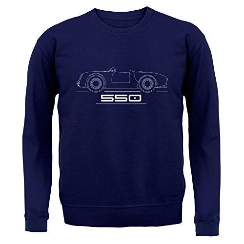 Seitenansicht Porsche 550 (1953 - 1956) - Unisex Pullover/Sweatshirt - 8 Farben Navy