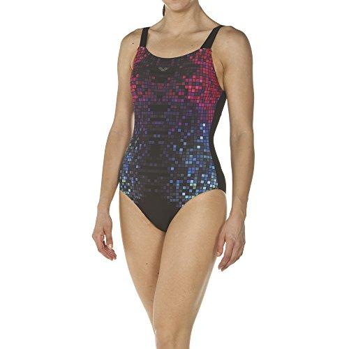 arena Damen Bodylift Badeanzug Opal B-Cup (Shapingeffekt, Figurformend, Schnelltrocknend, UV-Schutz UPF 50+), Black (500), 40