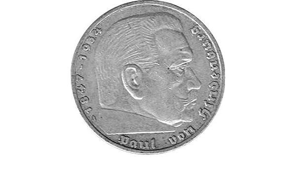 5 Reichsmark Deutschland 1935 A Hindenburg Jäger 360 Ss