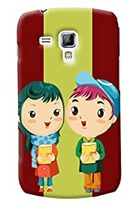 Fuson Love Couple Back Case Cover for SAMSUNG GALAXY S DUOS S7562 - D3740