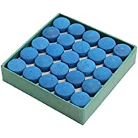 AYUN - 50 Puntas de Taco de Billar para Tacos, de Piel, Color Azul, con Caja para Tacos de Billar (9 a 13 mm), 13 mm