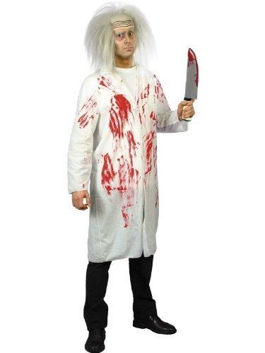 Smiffys, Herren Kostüm Arztkittel mit Blut, Kittel, Größe: M, 23068