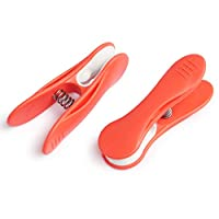 culiclean Soft Clip Clothes/Laundry Pegs (40 pieces, coral-white)