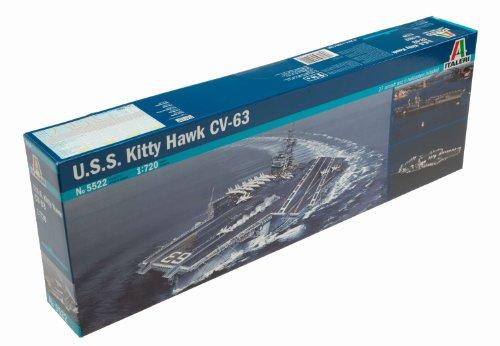 Imagen principal de Italeri 5522S USS Kitty Hawk CV-63 - Maqueta de barco portaaviones (escala 1:700)