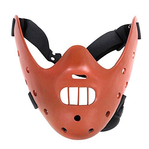 Alxcio Halloween Maske Sammleredition Film Theme Harz Maske für Maskerade Kostüm Partei Cosplay Geschenk ( Hannibal Lector, Kaffee ) (Clown Aus Saw Film Kostüm)