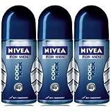 Nivea Cool Kick Anti-transpirant Deodorant Roll-on, 1.7 Fluid Ounce (Pack of 3)