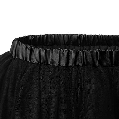 Ellames Damen 1950er Jahre Vintage Tutu Petticoat Rock Prom Abend Gelegenheit Zubehör Schwarz