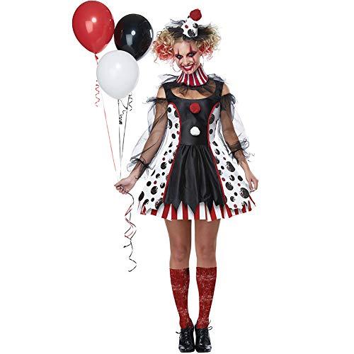 Paofu-costume da donna halloween horror clown arlecchino set da festa di carnevale abito per cosplay per adulti,nero,onesize