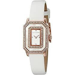 Ted Baker Te10023481 Damen Stieg Gold Und Weiß Leder Uhr Leather