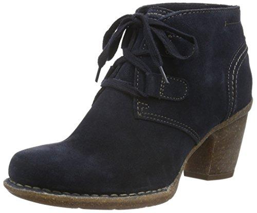 Clarks Damen Carleta Lyon Kurzschaft Stiefel, Blau (Navy Suede), 37 EU (Clarks Damen Schuhe)
