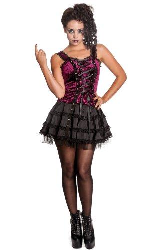 Hell Bunny Harper Dress Lila-Schwarz
