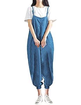Ansenesna Monos Mujer Verano 2018 Casual Loose Jumpsuit Strap Bib Pantalones De PantalóN PantalóN Baggy Casual