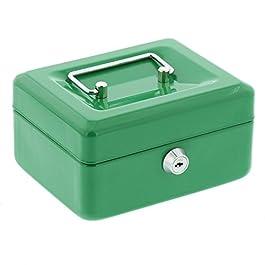 Burg-Wächter Money 5015 Cassetta di Sicurezza con Fessura per Le Monete, Verde