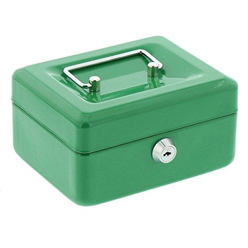 BURG-WÄCHTER Geldkassette mit Hartgeldeinsatz, Mit Schloss, Grün, Money 5015 (Schubladen Tool Box)
