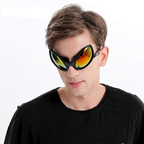 WWVAVA Party Brille Lustige Alien Kostüm Sonnenbrille Maske Neuheit Brille Halloween Photo Booth Requisiten Zubehör Party Supplies Dekoration Geschenk, grün