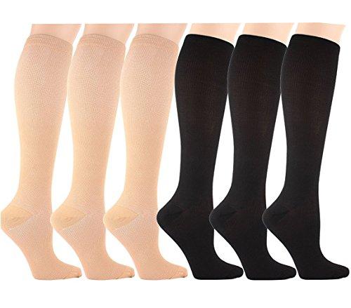 Mejor circulación, músculos fuertes, salud de las articulaciones: Estas medias de compresión son la mejor opción para la Salud Integral de la pierna Si usted es un médico o una enfermera, cuya pierna calambres e hinchazón después de años de intermin...