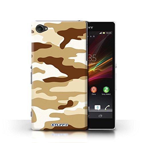 Kobalt® Imprimé Etui / Coque pour Sony Xperia Z1 Compact / Vert 4 conception / Série Armée/Camouflage Marron 2