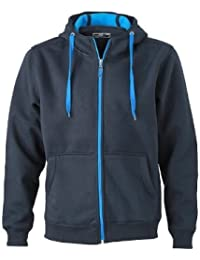 jn355–1 Men's double face Veste Veste Sweat Pull à capuche