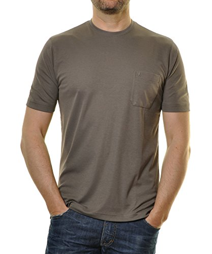 RAGMAN Herren RAGMAN T-Shirt Softknit uni, Pflegeleicht Macchiato-870