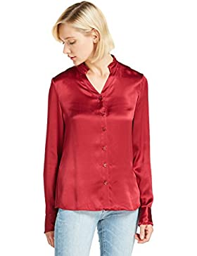 LILYSILK Camisa Mujer Mangas Largas 100% Seda Natural 22 Momme