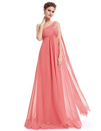 Ever-Pretty Damen Asymmetrischer Strandkleid, Watermelon Red, 36 EU