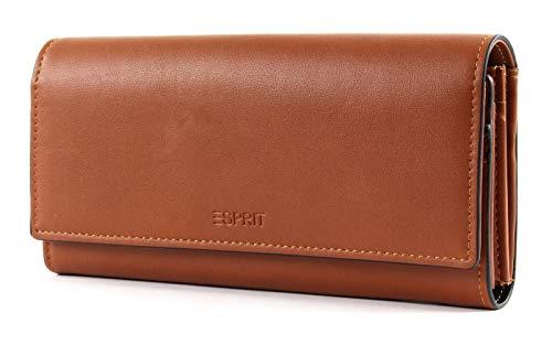 Esprit Damen Geldbörse Portemonnaies Rita Flat Clutch Braun 049EA1V003-220