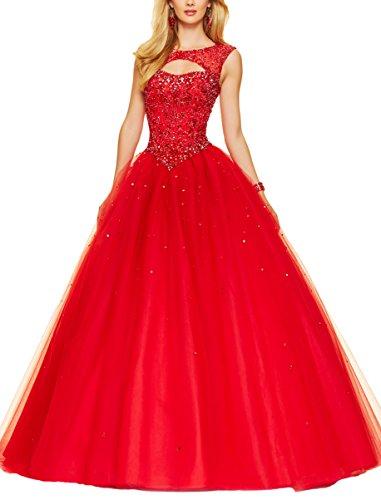 Bridal_Mall -  Vestito  - linea ad a - Donna Rosso