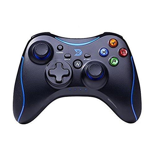 Preisvergleich Produktbild Zhidong N Voll Vibration Feedback USB Wired Controller Gamepad für Windows XP / 7 / 8 / 8, 1 / 10 Steam & Android & PS3 (Xbox360 Architecture & Motor) - keine Unterstützung für die Xbox 360 (Blau / Schwarz)