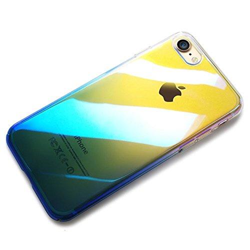 iPhone 6S Plus Étui Rigide,iPhone 6 Plus Coque Cristal Clair,JAWSEU Luxe Mode Placage Miroir Coque Housse Bling Brillant Sparkle Coque Mat Désign Ultra Slim Mince Crystal Miroir Hard Case Coquille de  bleu/Plaquage
