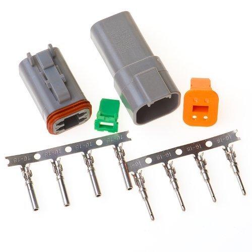 Deutsch 4-pin Connector Kit W/housing, Terminals, Pins, and Seals 14-16 Gauge Crimp Style Terminals by Deutsch -