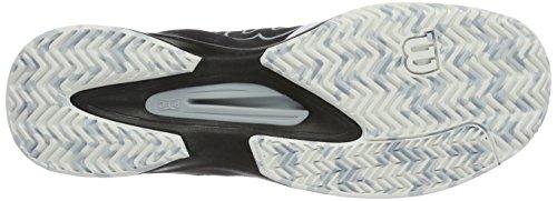 Wilson Kaos Comp Bk/Wh/Pearl Blue, Chaussures de Tennis Homme Blau (Black/White/Pearl Blue)