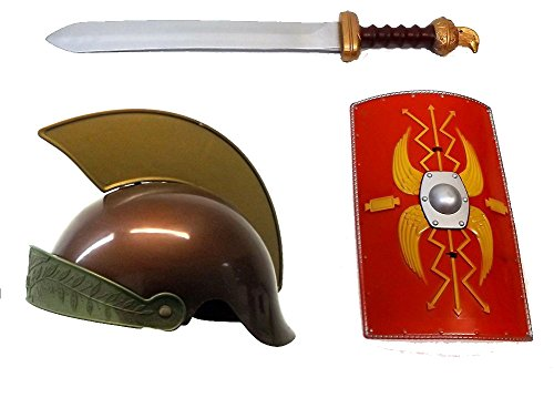 Brigamo 4581 - ♰ Römer Faschingskostüm Römischer Legionär Kostüm Kinder Spiel Set inkl. Helm, Schild und Gladio Schwert (Kostüme Römische Kinder)