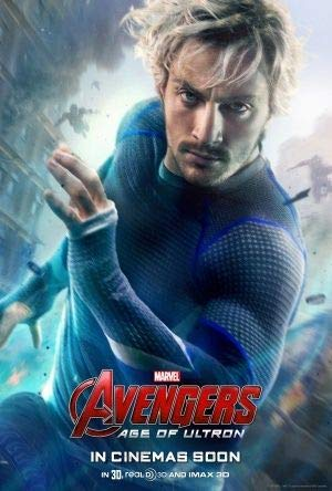 The Avengers : Age of Ultron - Quicksilver - U.S Movie Wall Poster Print - 43cm x 61cm / 17 Inches x 24 Inches A2