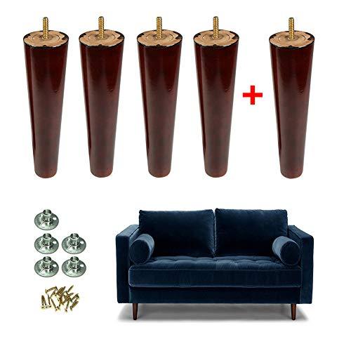 ■ Las patas de los muebles logaritmo natural vienen en una variedad de tamaños y alturas diferentes para proporcionar confort, sofás, armarios, mesas, pies de página, etc., para todos los estilos de muebles.■ Alta capacidad de soporte de carga, resis...