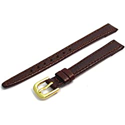 Ladies Open Ended Leather Watch Strap/Band for Vintage Watches 10mm wide Brown G