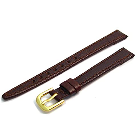 Ladies Open Ended Leather Watch Strap/Band for Vintage Watches 10mm