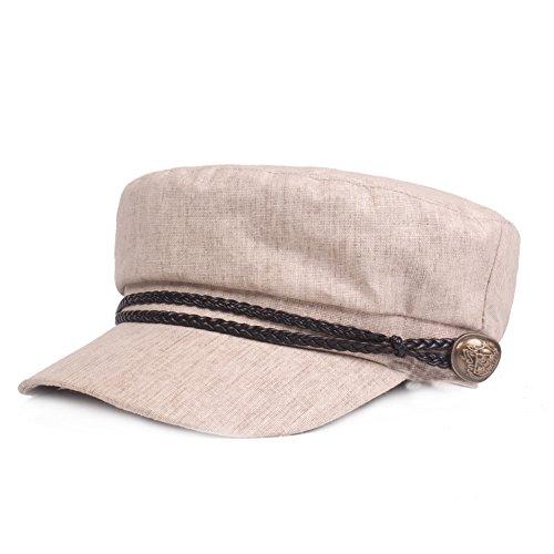 Gysad Gorra Marinero Mujer Vintage Sombrero Hombre Algodón y Lino Gorras  Planas Unisex Boina Newsboy Hat 07edda3a3eb