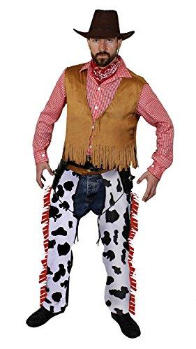 Übergröße Kostüm Männer - ILOVEFANCYDRESS ÜBERGRÖSSEN Karneval Fasching Party KOSTÜME VERKLEIDUNG MÄNNER= Verschiedene KOSTÜME IN DEN GRÖßEN VON -XLarge BIS XXXXLarge=Western Cowboy-XLarge+BRAUNEM Wildleder Look COWBOYHUT