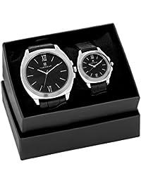 Timewear Analog Black Dial Couple Watch - 904BDTCOUPLE