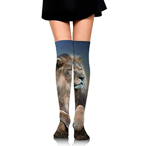 Women Crew Socksc Thigh High Over Knee Lion King Long Tube Dress Legging Athletic Compression Soccer Stocking